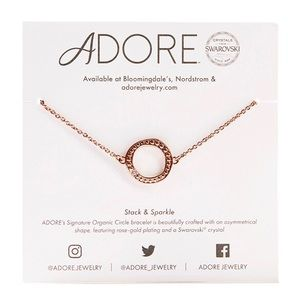 NWT Adore Rose Gold Organic Circle Bracelet
